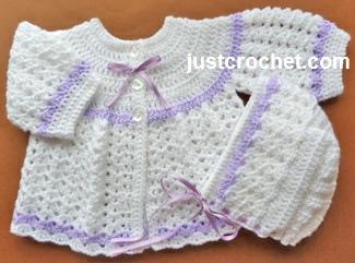 Crochet Baby Coat Pattern Free : Free baby crochet pattern coat and bonnet uk