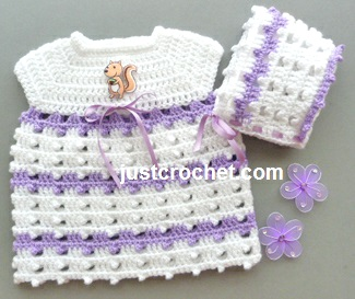 Free Crochet Preemie Baby Dress Patterns : Free baby crochet pattern preemie dress and bonnet uk
