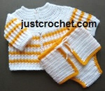 Cardigan and Diaper Cover USA