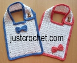 Textured Cotton Bib USA